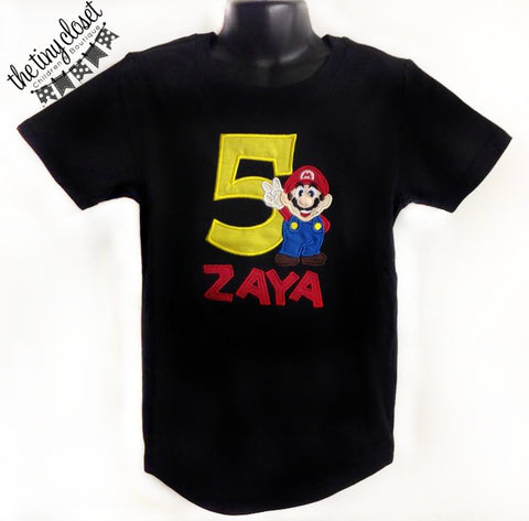 Personalized Super Mario Bros Birthday Design