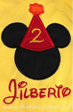 Personalized Mickey Mouse Party Hat Birthday Design