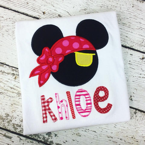 Personalized Pirate Minnie Disney Design