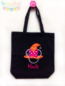 Personalized Witch Minnie Mouse Trick or Treat Bag
