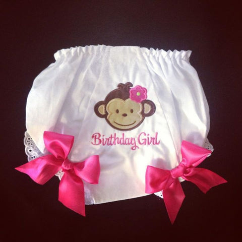 Personalized Mod Monkey Girl Bloomer