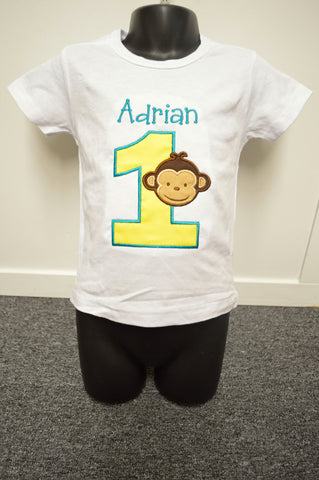 Personalized Mod Monkey Birthday Design