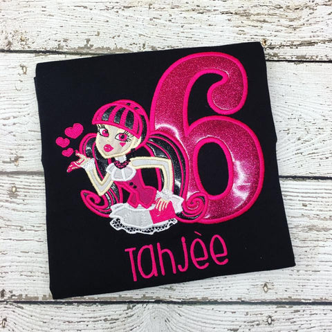 Personalized Monster High Birthday Design- Draculaura