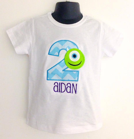 Personalized Monsters Inc Mike Wazowski Birthday Design