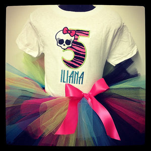 Personalized Monster High Birthday Tutu Set- Multi Color