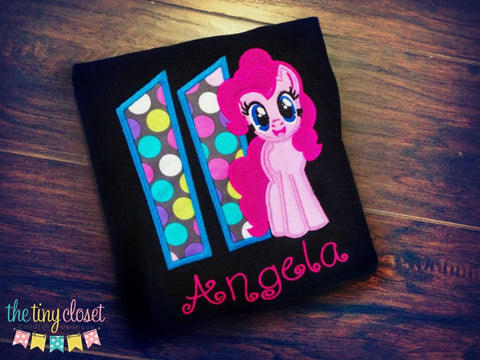 Personalized My Little Pony Birthday Design - Pinkie Pie Multi Color