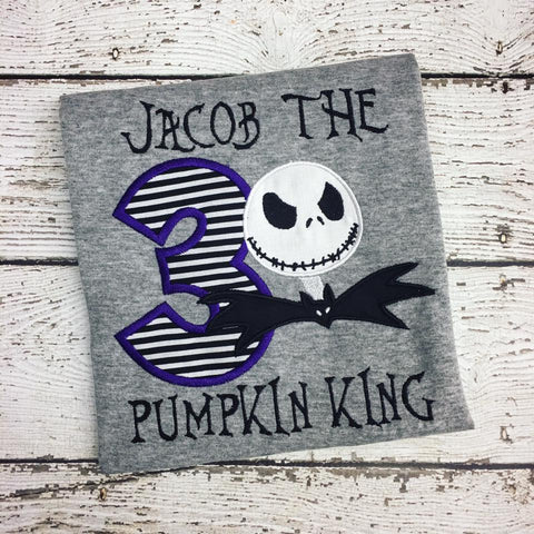 Personalized Nightmare Before Christmas Birthday Design - Jack Skellington