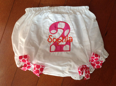 Personalized Birthday Bloomer - HP Large Dot