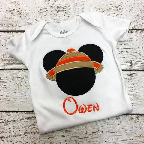 Personalized Safari Mickey Disney Design- Orange