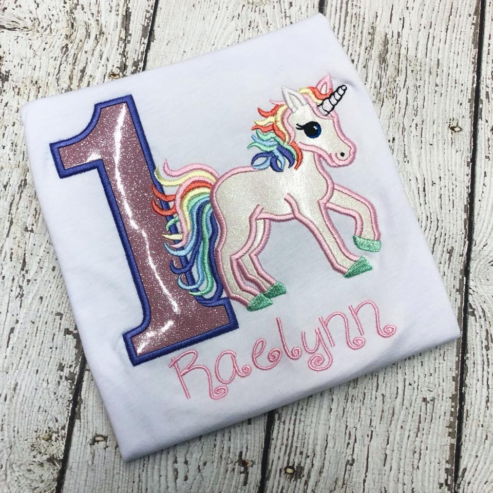 Personalized Pink Pastel Magical Glitter Unicorn Birthday Design