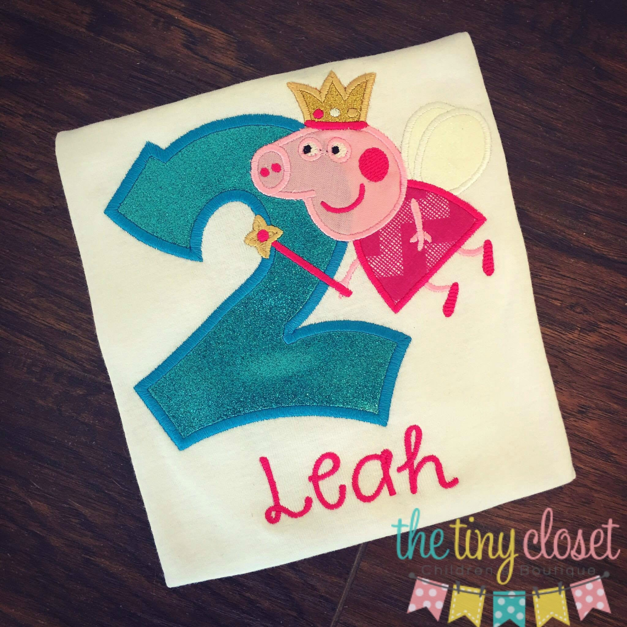 Personalized Peppa Pig Fairy Birthday Design - Blue