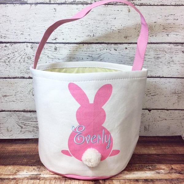Easter Cotton Tail Bucket- Pink