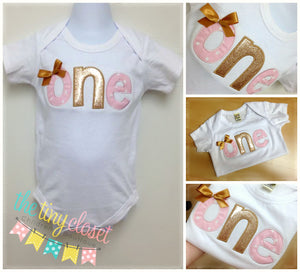 Personalized Sparkly Gold Glitter & Pink Birthday Number Design