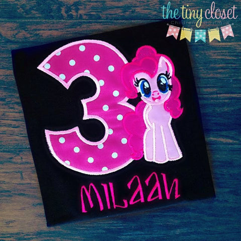 Personalized My Little Pony Pinkie Pie Birthday Design - Hp Dot