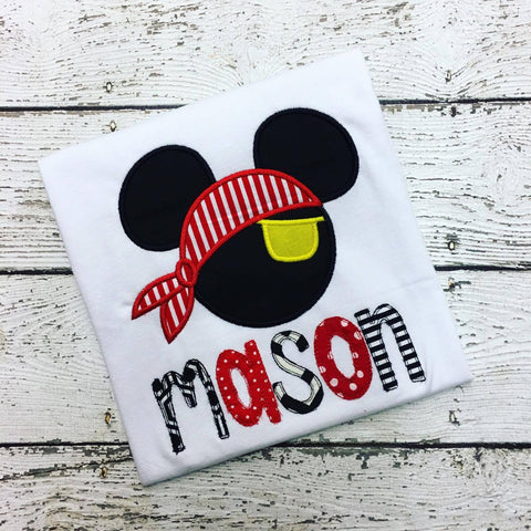 Personalized Pirate Mickey Disney Design