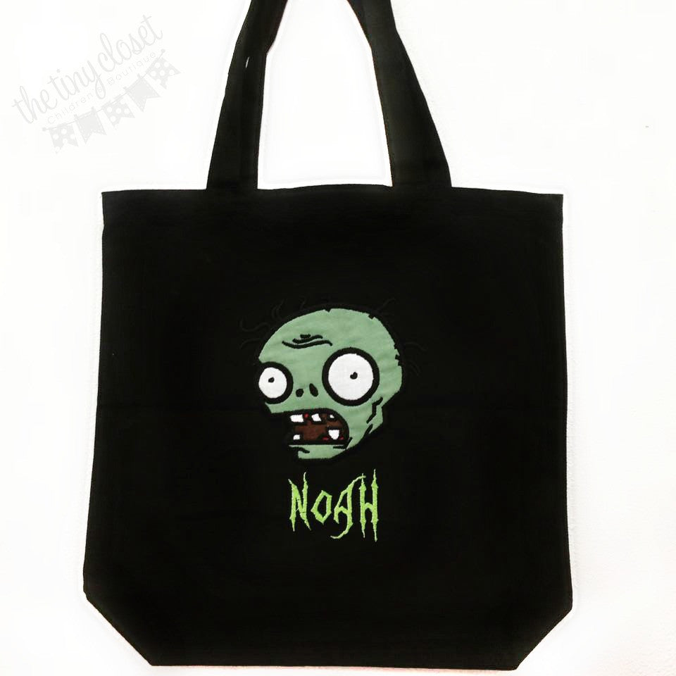 Personalized Plants Vs Zombies Trick or Treat Bag