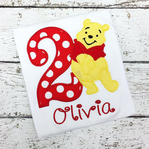 Personalized Pooh Bear Birthday Design