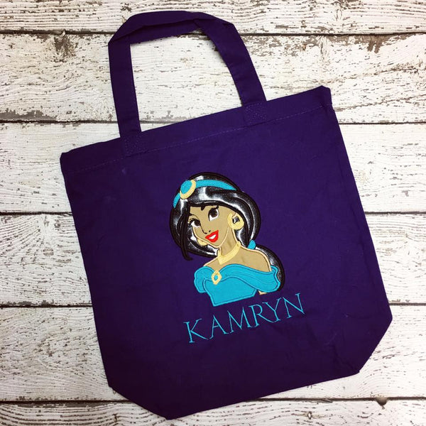 Personalized Princess Jasmine Trick or Treat Bag