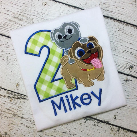 Personalized Puppy Pals Birthday Design