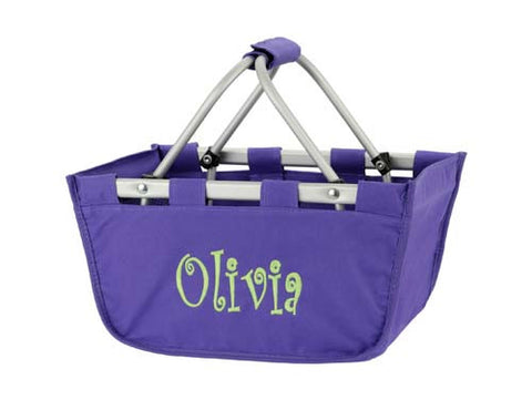 Personalized Mini Market Tote - Purple