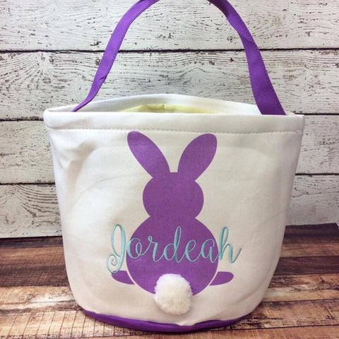 Easter Cotton Tail Bucket- Purple