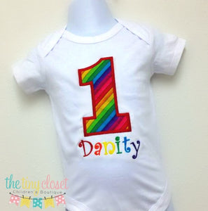 Personalized Rainbow Birthday Design
