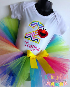 Personalized Elmo Birthday Tutu Set - Elmo