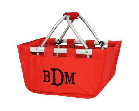 Personalized Mini Market Tote - Red
