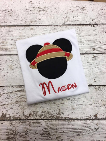 Personalized Safari Mickey Disney Design- Red