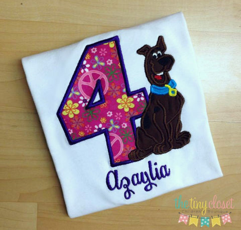 Personalized Scooby Doo Birthday Design- Flower Child
