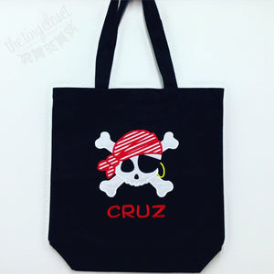 Personalized Pirate Trick or Treat Bag