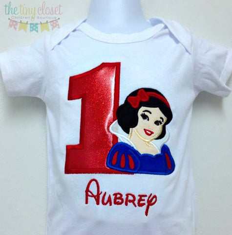Personalized  Snow White Birthday Design- Glitter Vinyl