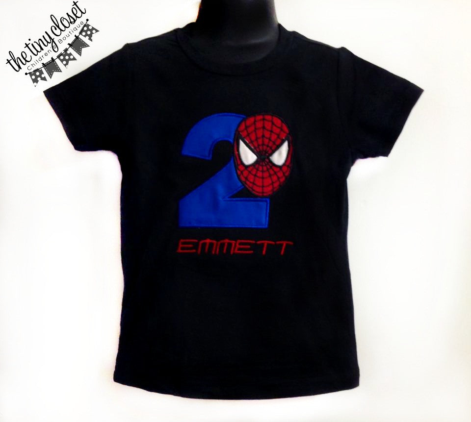 Personalized Spiderman Birthday Design - Solid Blue
