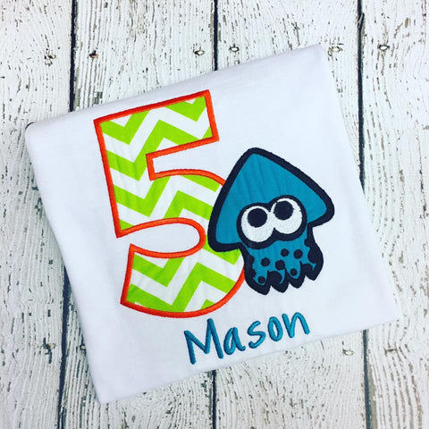 Personalized Splatoon Birthday Design