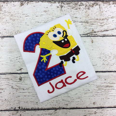 Personalized Jumping Spongebob Birthday Design