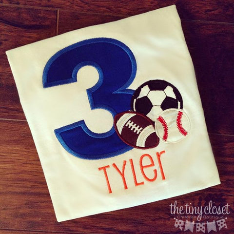 Personalized Sports Combo Birthday Design