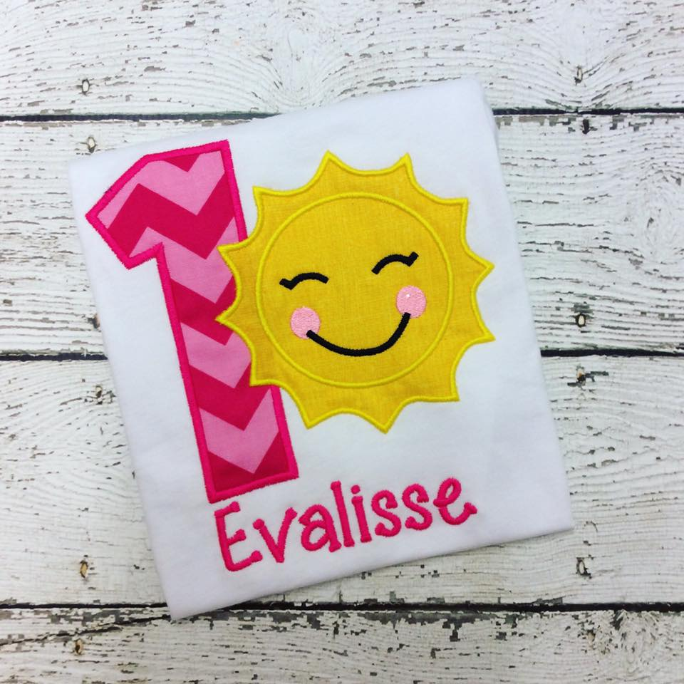 Personalized Smiley Sunshine Birthday Design