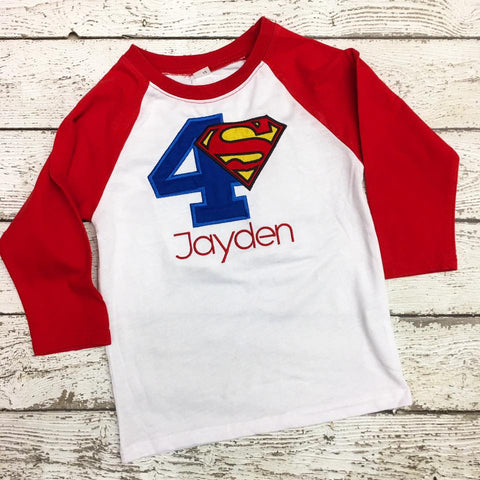 Personalized Superman Birthday Design