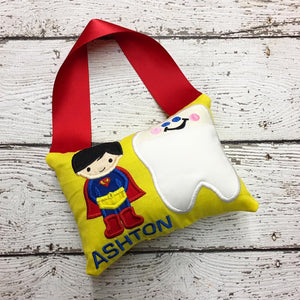 Personalized Tooth Fairy Pillow - Superman