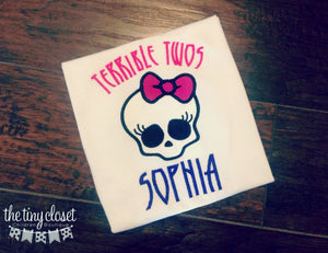 Personalized Monster High Birthday Design - Terrible Twos!