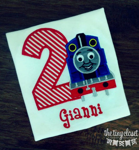 Personalized Thomas The Train Birthday Design