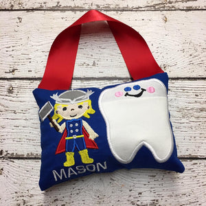 Personalized Tooth Fairy Pillow - Thor