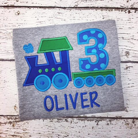 Personalized Train Birthday Design