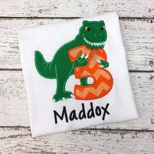 Personalized T. Rex Birthday Design