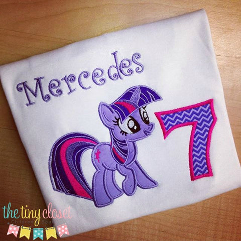 Personalized My Little Pony Birthday Design - Twilight