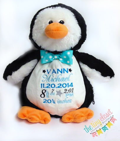 Personalized Plush Pal- Penguin