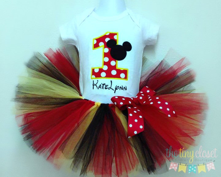 Personalized Mickey Mouse Birthday Tutu Set