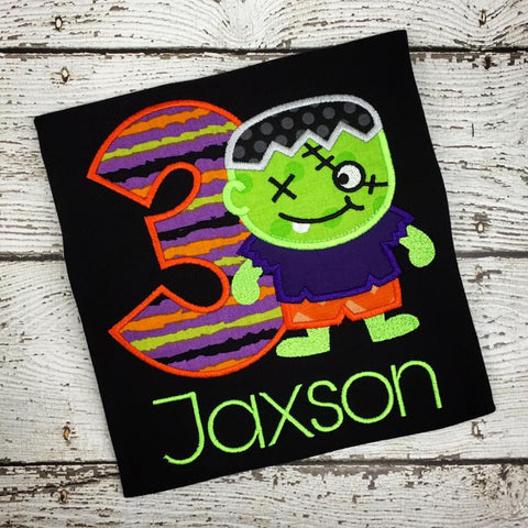 Personalized Halloween Zombie Boy Birthday Design