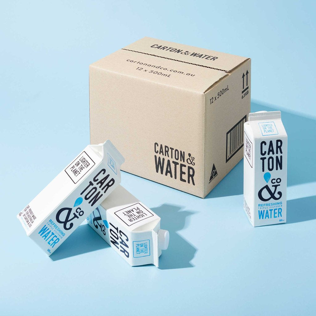 Water now in a carton