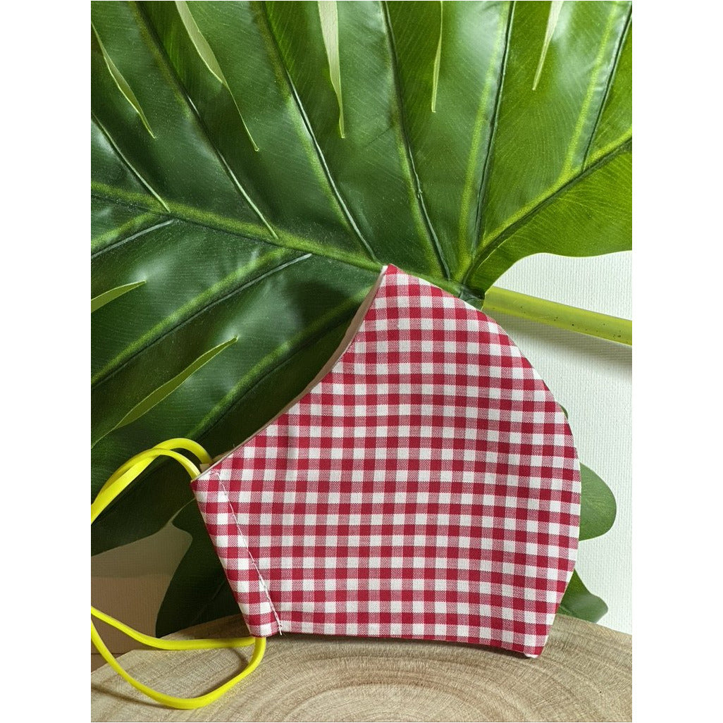 Picnic Red Face Mask  reusable cotton washable